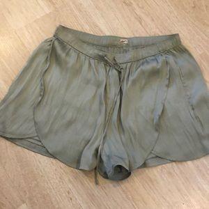Silky Mint Green Hollister Shorts